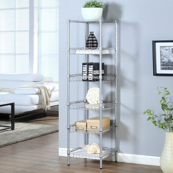 6 Tier Bathroom Supreme 63 H x 13.4 W Shelving Unit by LANGRIA