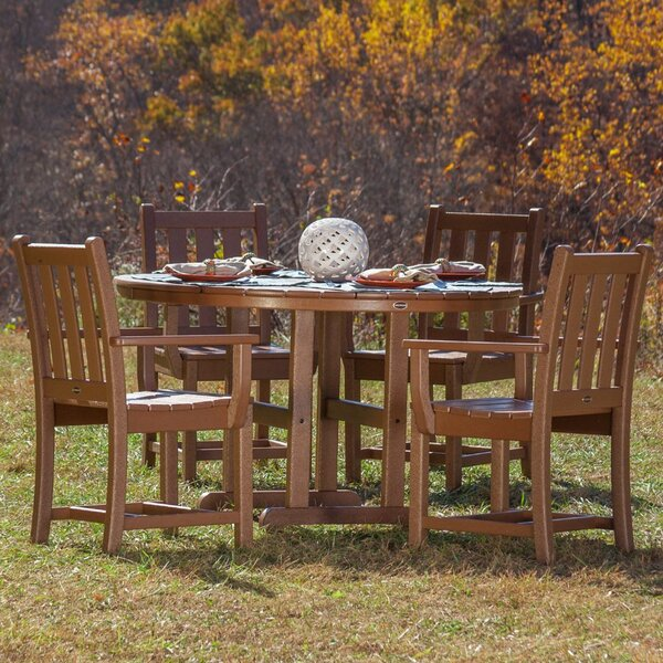 Traditional Garden 5 Piece Dining Set by POLYWOOD®
