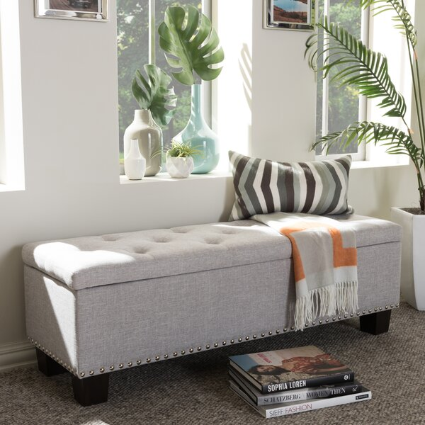 Back Bay Upholstered Storage Bench by Alcott Hill