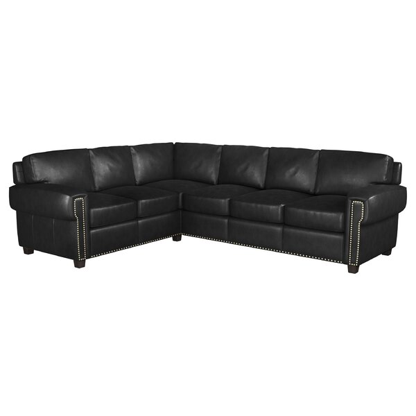 Sioux Leather Sectional By Westland And Birch