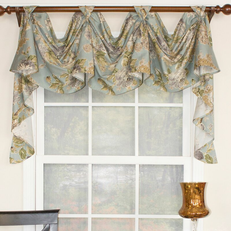 Floral Essence 3 Scoop Victory Swag Curtain Valance