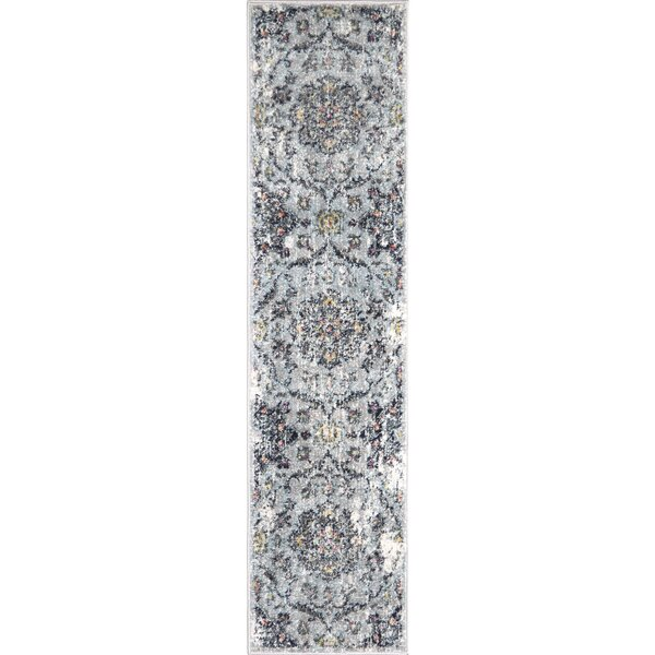 Tangela Distressed Gray Area Rug by Bungalow Rose