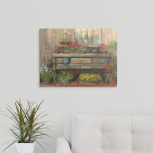 Gardners Tale by Carol Rowan Painting Print on Wrapped Canvas by Great Big Canvas