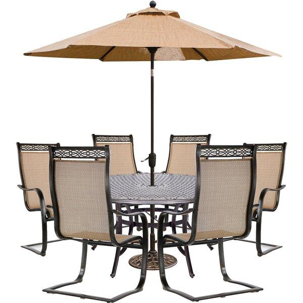Gros 7 Piece Dining Set with Umbrella