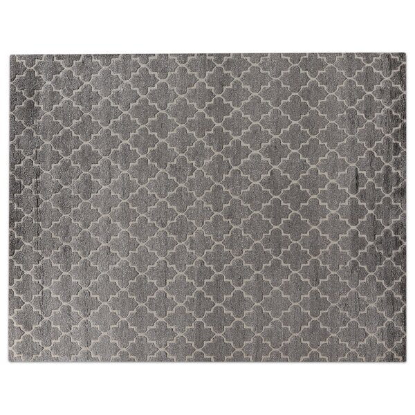 Luxe Look Hand-Knotted Silk Gray Area Rug by Exquisite Rugs