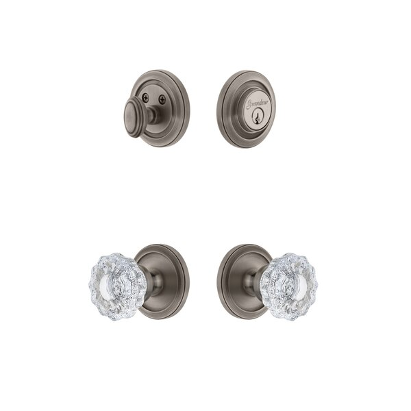 Circulaire Single Cylinder Knob Combo Pack with Versailles Knob by Grandeur
