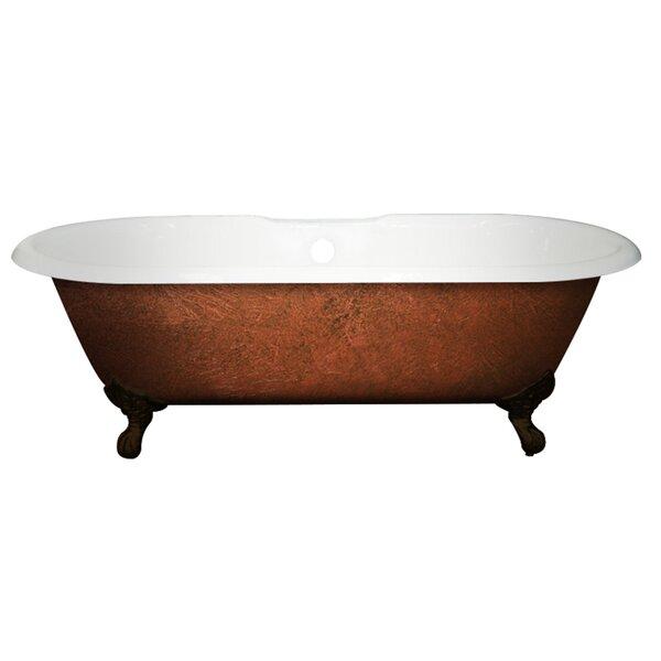 Cast Iron Clawfoot 67 x 30 Freestanding Soaking Bathtub by Cambridge Plumbing