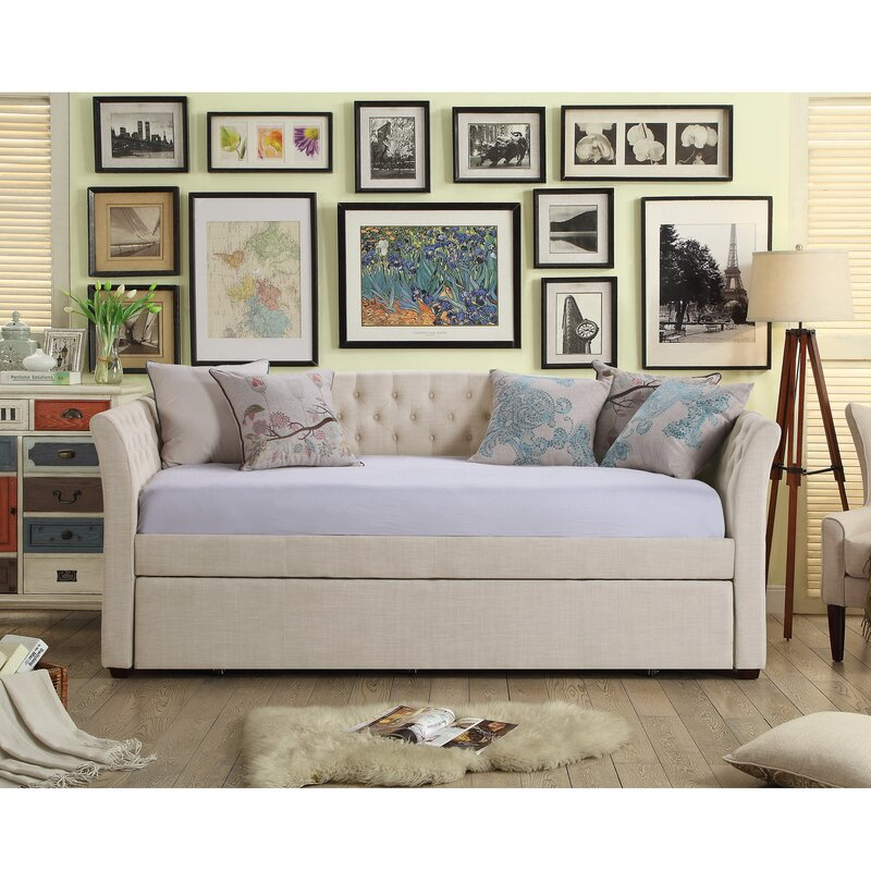 default_name - Three Posts Milligan Twin Daybed With Trundle & Reviews Wayfair