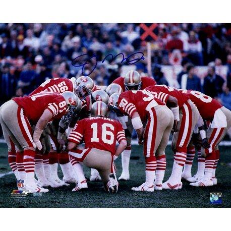 Joe Montana San Francisco 49ers Huddle Photo Graphic Art by Steiner Sports
