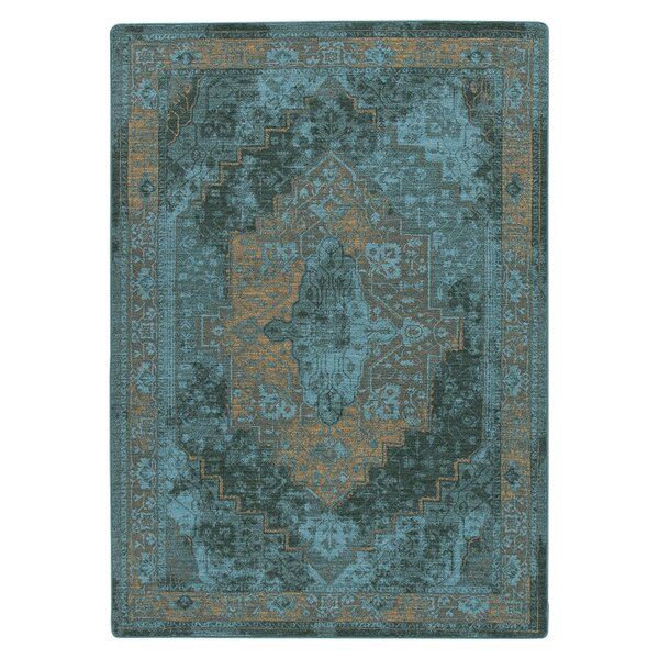 Tate Peacock Area Rug by Bungalow Rose