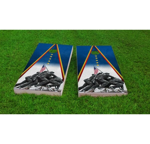 Marines Iwo Jima Light Weight Cornhole Game Set by Custom Cornhole Boards