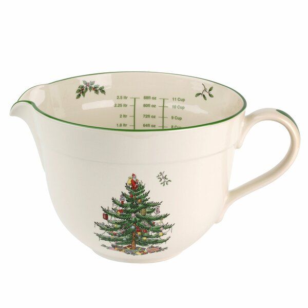 Christmas Tree Ceramic Batter Jug by Spode