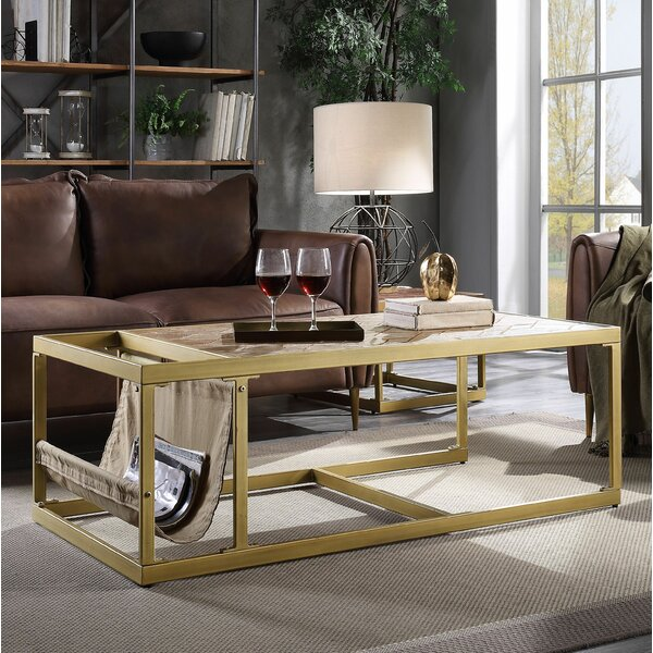 Pamela Sled Coffee Table with Storage by 17 Stories 17 Stories