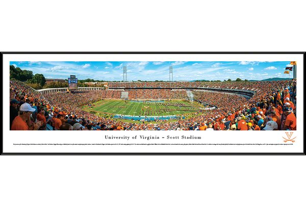 NCAA Virginia, University of - 50 Yard Line by Nathan Haler Framed Photographic Print by Blakeway Worldwide Panoramas, Inc