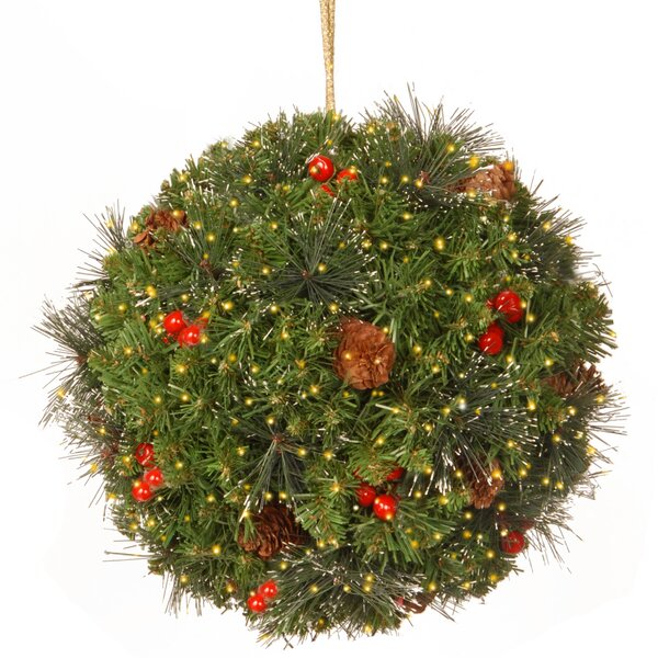 Plastic Spruce Kissing Ball by Three Posts