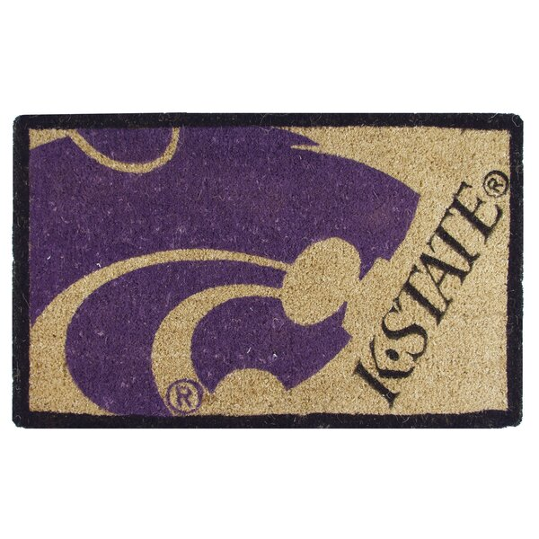 NCAA Kansas State Welcome Graphic Printed Doormat by Team Sports America