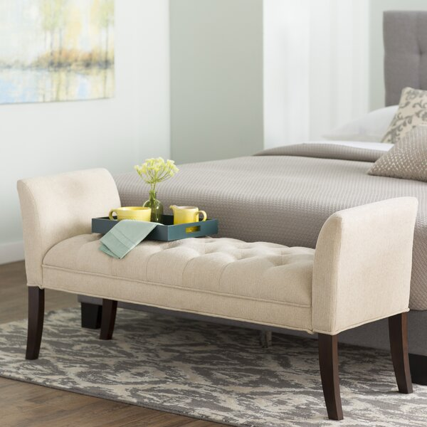 Two Seat Upholstered Bench by Coast to Coast Imports LLC