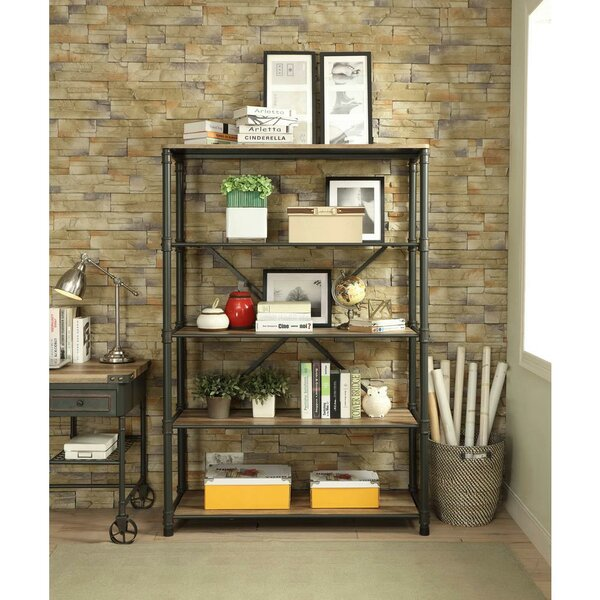 Croker Industrial Etagere Bookcase by 17 Stories