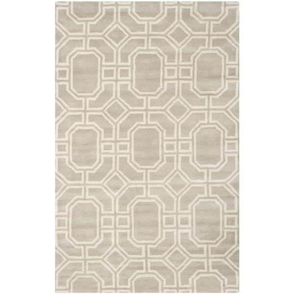 Schaub Hand-Tufted Gray/Ivory Area Rug by Wrought Studio