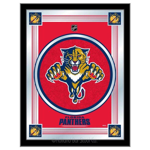 NHL Logo Mirror Framed Graphic Art by Holland Bar Stool