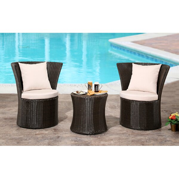 Burleigh 3 Piece Bistro Set (Set of 3) by Orren Ellis