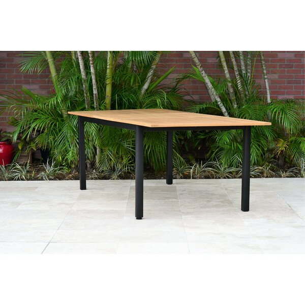 Onamia Extendable Solid Wood Dining Table by Wrought Studio