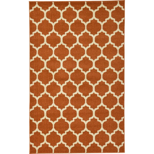 Moore Rust Area Rug by Charlton Home