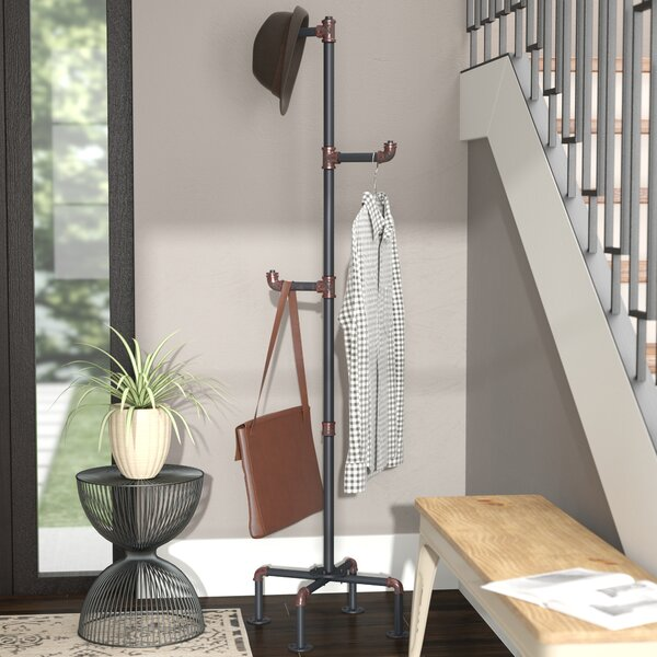 Melynda Metal Pipe Style Coat Rack by Trent Austin Design