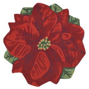 Calderon Poinsettia Hand-Tufted Red Indoor/Outdoor Area Rug