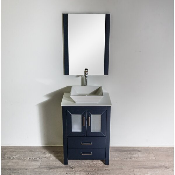 Leena 23 Single Bathroom Vanity Set with Mirror by Wrought Studio