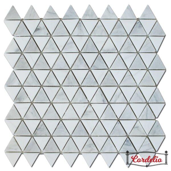Diamantes 0.38 x 0.38 Marble Mosaic Tile