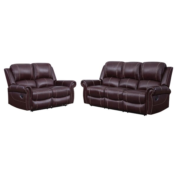 Vanhoy 2 Piece Leather Reclining Living Room Set by Darby Home Co