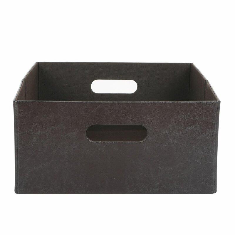 Faux Leather Storage Bin  sc 1 st  Wayfair & Rebrilliant Faux Leather Storage Bin u0026 Reviews | Wayfair