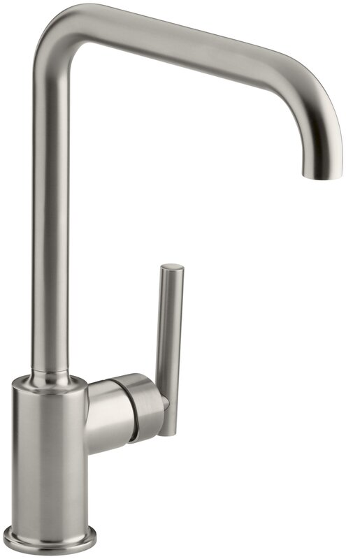 K-7507-BL,CP,SN Kohler Purist Single-Hole Kitchen Sink Faucet with 8 ...