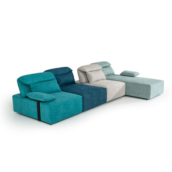 Oswald Modular Fabric Sectional by Latitude Run