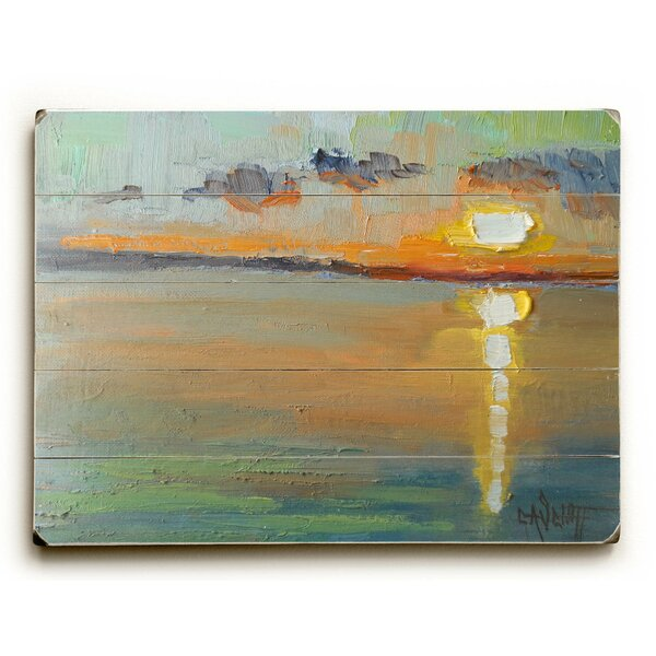Abstract Sunset Wall Art by Highland Dunes