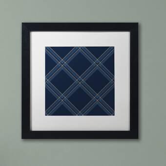 Trademark Art Dk Blue Diamond Framed Graphic Art On Canvas Wayfair
