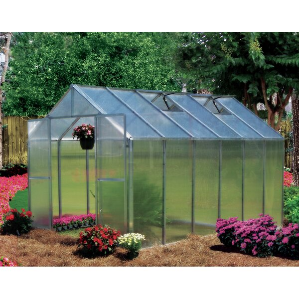 Monticello 8 Ft. W x 12 Ft. D Hobby Greenhouse by Riverstone Industries