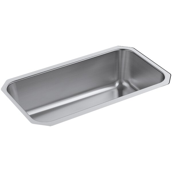 Undertone Preserve 31-1/4 x 17-7/8 x 9-5/16 Large Under-Mount Single-Bowl Kitchen Sink by Kohler