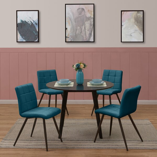 Elena 5 Piece Solid Wood Dining Set By Wrought Studio