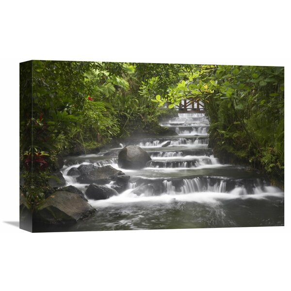 Nature Photographs Tabacon River Cascades and Pools in the Rainforest Costa Rica by Tim Fitzharris Photographic Print on Wrapped Canvas by Global Gallery