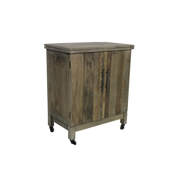Solon Butler Bar 2-Door Folding Top Kitchen Cart by Bungalow Rose