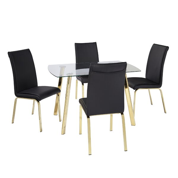 Leia 5 Piece Dining Set by Wrought Studio