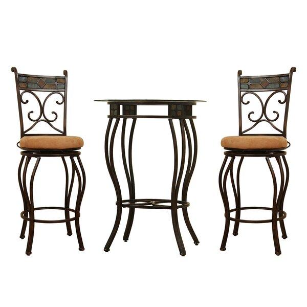 Cambron 3 Piece Pub Table Set by Fleur De Lis Living Fleur De Lis Living
