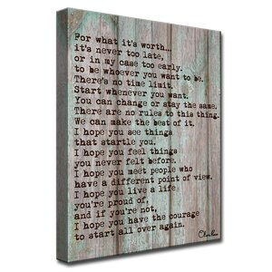 'Courage' by Olivia Rose Textual Art on Canvas In Gray/Brown by Ready2hangart