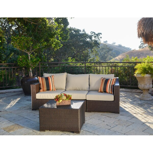 Boyce 4 Piece Rattan Multiple Chairs Seating Group with Cushions by Rosecliff Heights
