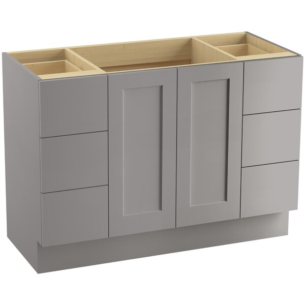 Poplin™ 48 Vanity with Toe Kick, 2 Doors and 6 Drawers by Kohler