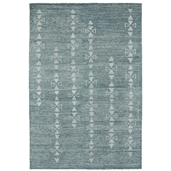 Aracely Hand Woven Ice Blue/Light Blue Area Rug by Mercury Row