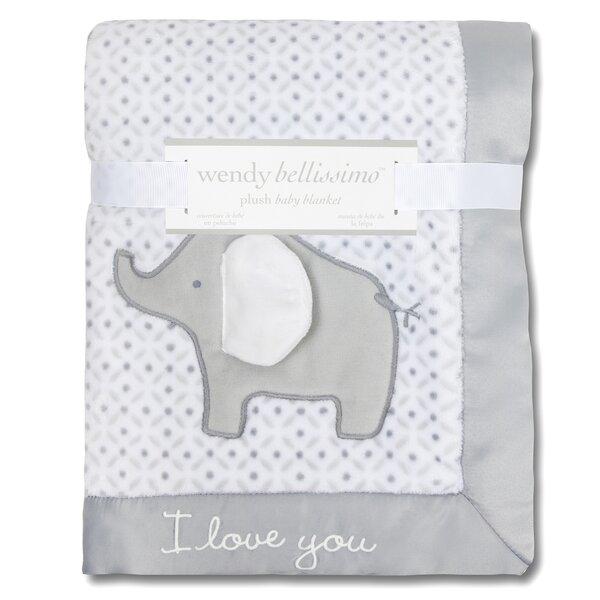 Superior Plush Elephant Throw Blanket by Greyleigh