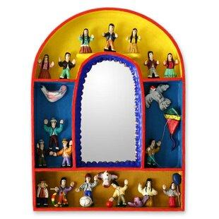 Novica Children's Joy for Peace Wall Mirror